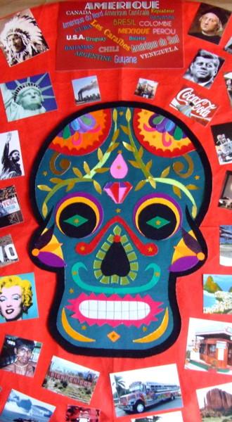 Amérique, masque des morts mexicain